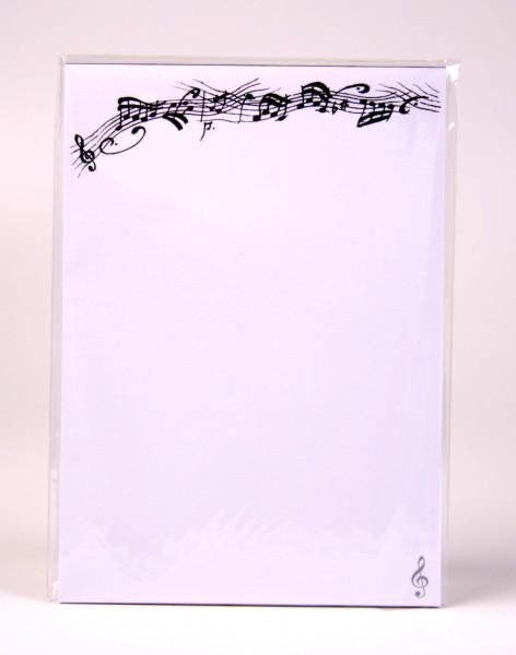 "Briefpapier ""Notenmotiv - Violinschlüssel"" A 5"