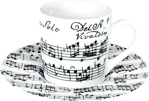 "Espressotasse ""Vivaldi Libretto"" - weiß"