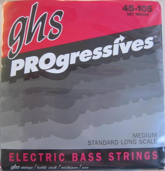 ghs Progressives M 8000 Medium - Saiten E-Bass