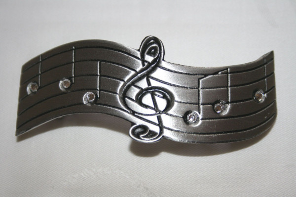 """Haarspange """"Violinschlüssel"""" mit Swarovski-Steine"""