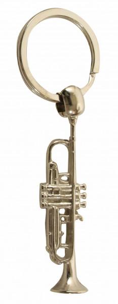 """Schlüsselanhänger """"Trompete"""" versilbert"""