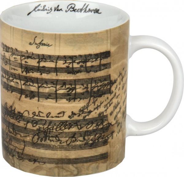 Porzellanbecher mit Facsimile von L. v. Beethoven