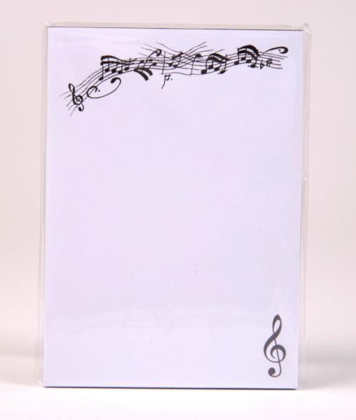 "Briefpapier ""Notenmotiv - Violinschlüssel"" A 4"