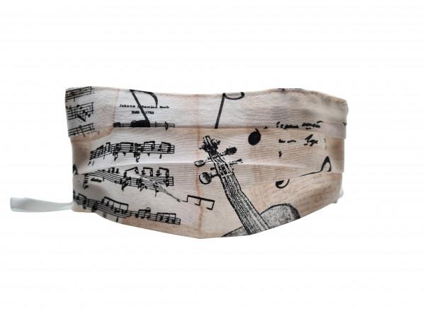 """Mund-Nasen-Maske """"Noten und Instrumente"""""""