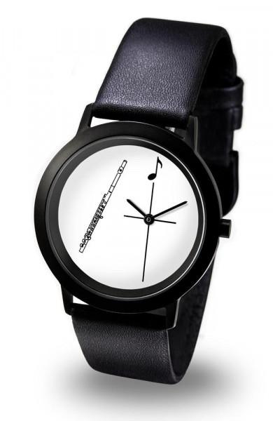 "Armbanduhr ""Querflöte"" - Black Line"