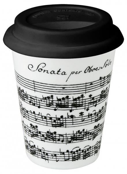 "Traveller-Mug ""Vivaldi Libretto"" - weiß"