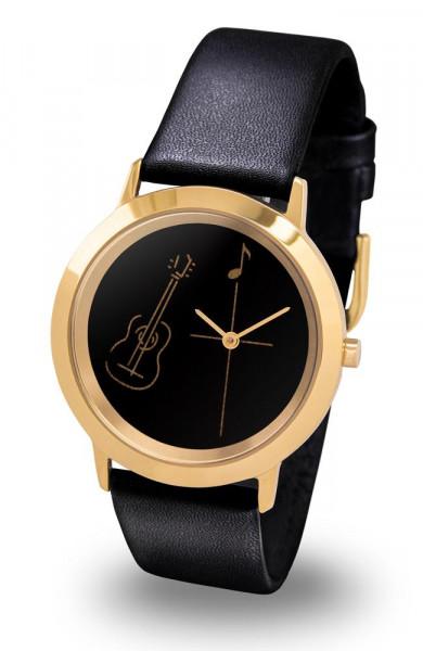 "Armbanduhr ""Gitarre"" - Gold Line"