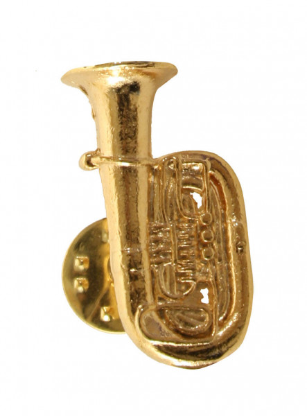 "Pin ""Tuba"" vergoldet"