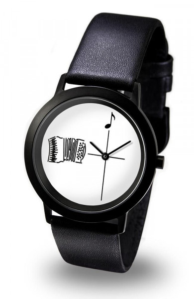 "Armbanduhr ""Akkordeon"" - Black Line"